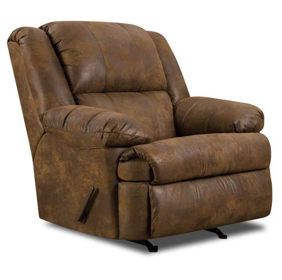 United Furniture Industries 604 Casual Rocker Recliner - Item Number: 604 Rocker Tobacco