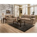 United Furniture Industries 6150 Stationary Sofa with Padded Arms
