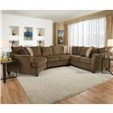 United Furniture Industries 6485 Transitional Sectional Sofa - Item Number: 123648510-Albany Chestnut