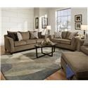 United Furniture Industries 6485 Stationary Living Room Group - Item Number: 6485 truffle group
