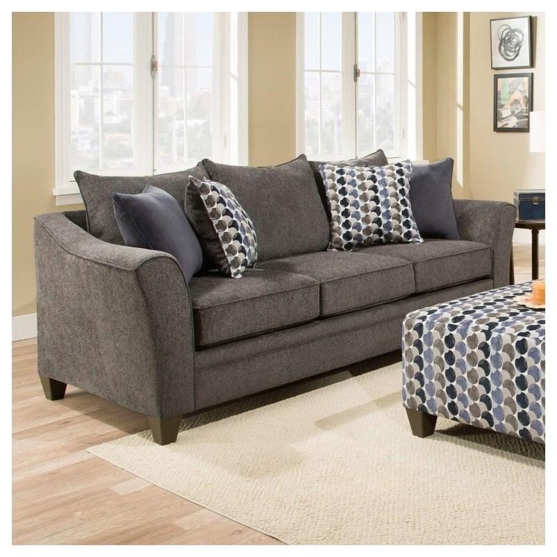 Transitional Queen Slepper Sofa