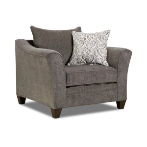 United Furniture Industries 6485 Transitional Chair - Item Number: 6485Chair-AlbanyPewter