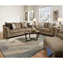 Simmons Upholstery 6485 Living Room Group - Item Number: 6485LivingRoomGroup-Truffle