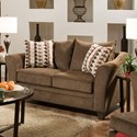 Simmons Upholstery 6485 Transitional Loveseat - Item Number: 6485Loveseat-AlbanyChestnut