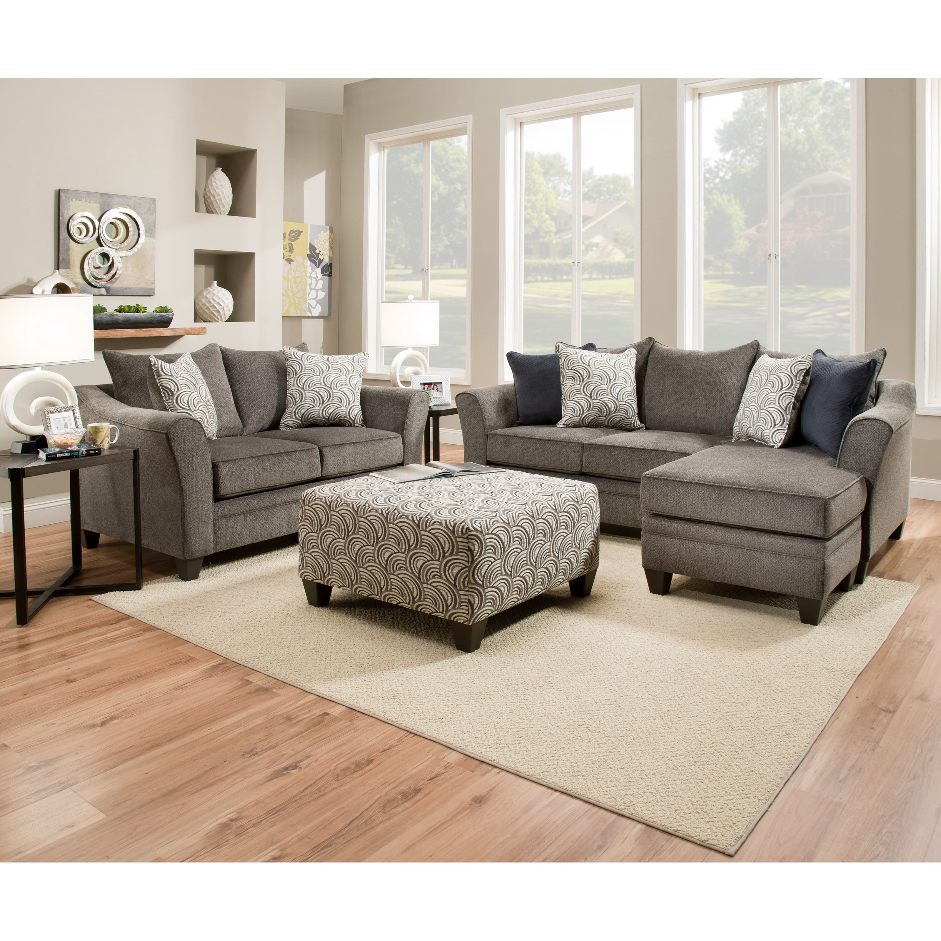 Roomstore Furniture: United Furniture Industries 6485 Transitional Loveseat