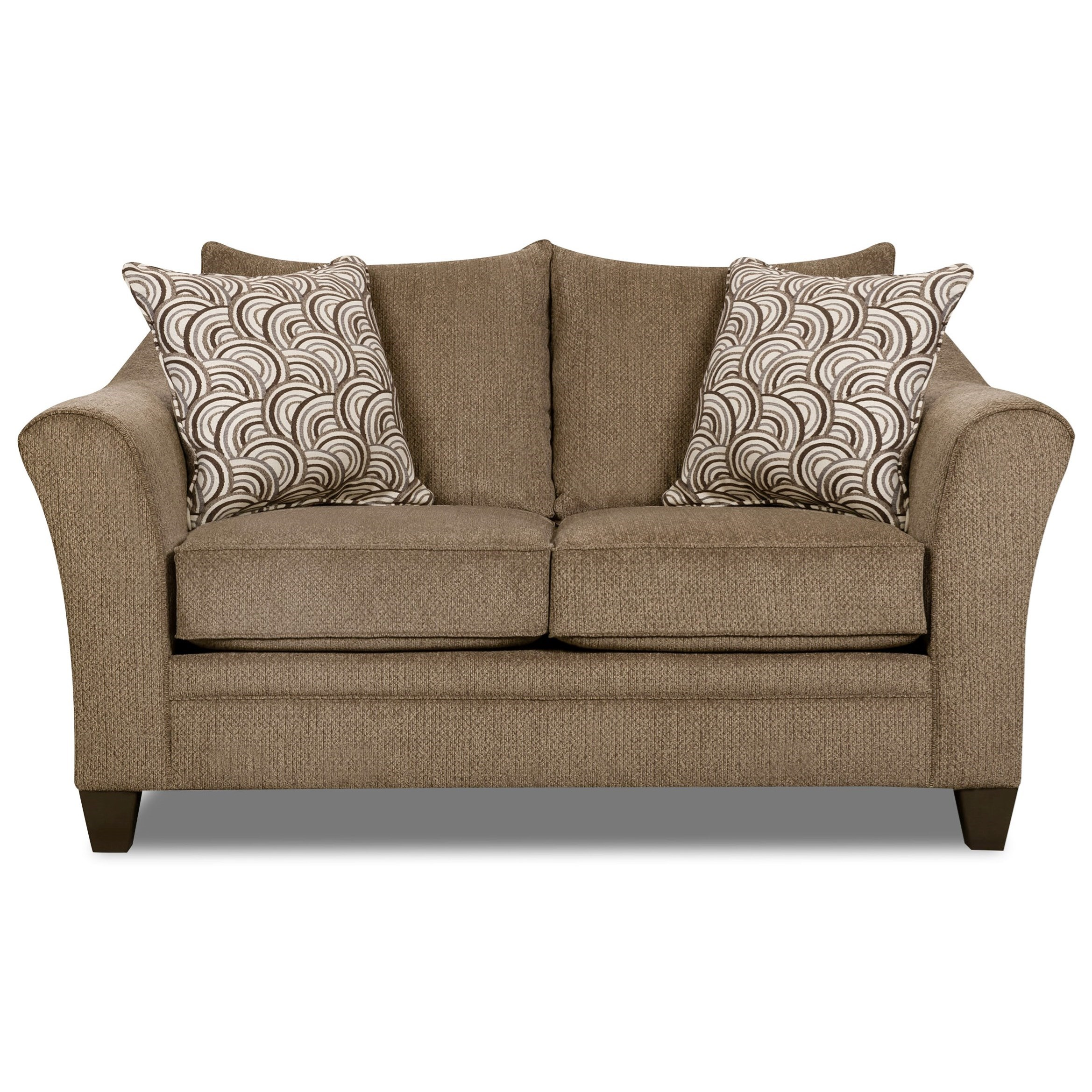 United Furniture Industries 6485 Transitional Loveseat - Item Number: 6485Loveseat-AlbanyTruffle