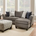 Umber Kiara Transitional Sofa Chaise - Item Number: 6485SofaChaise-AlbanyPewter