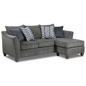 Simmons Upholstery 6485 Transitional Sofa Chaise  sc 1 st  Dunk u0026 Bright Furniture : simmons chaise sofa - Sectionals, Sofas & Couches