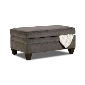 United Furniture Industries 6485 Transitional Storage Ottoman - Item Number: 6485StorageOttoman-AlbanyPewter