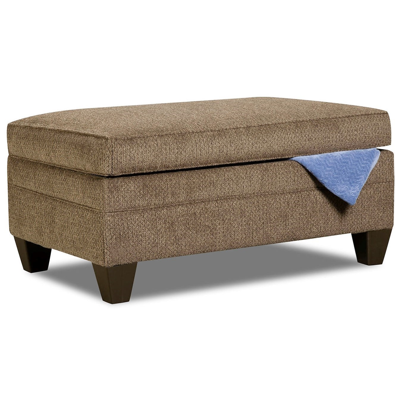 6485 Transitional Storage Ottoman by Simmons Upholstery at Dunk & Bright Furniture
