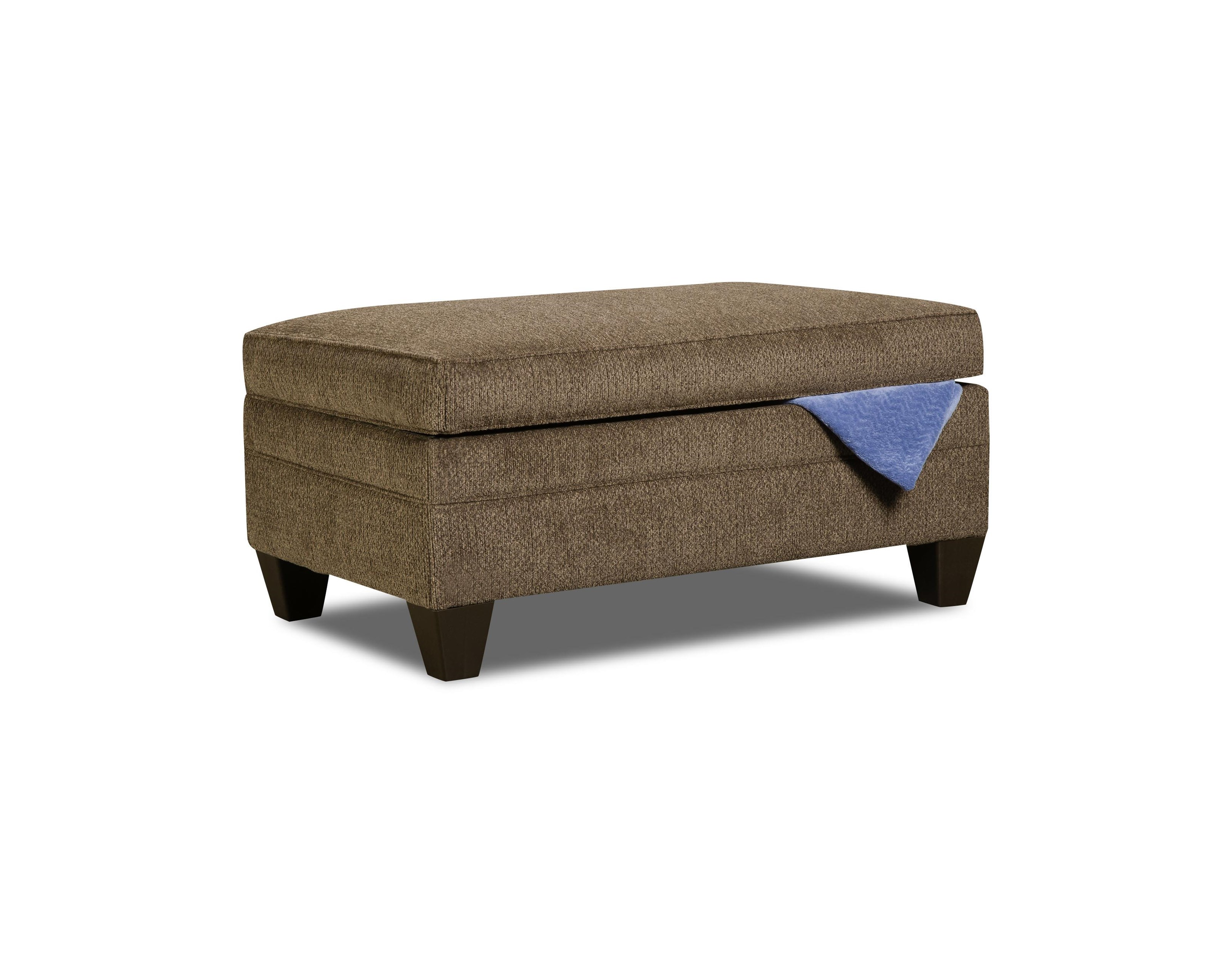 United Furniture Industries 6485 Transitional Storage Ottoman - Item Number: 6485StorageOttoman-AlbanyTruffle