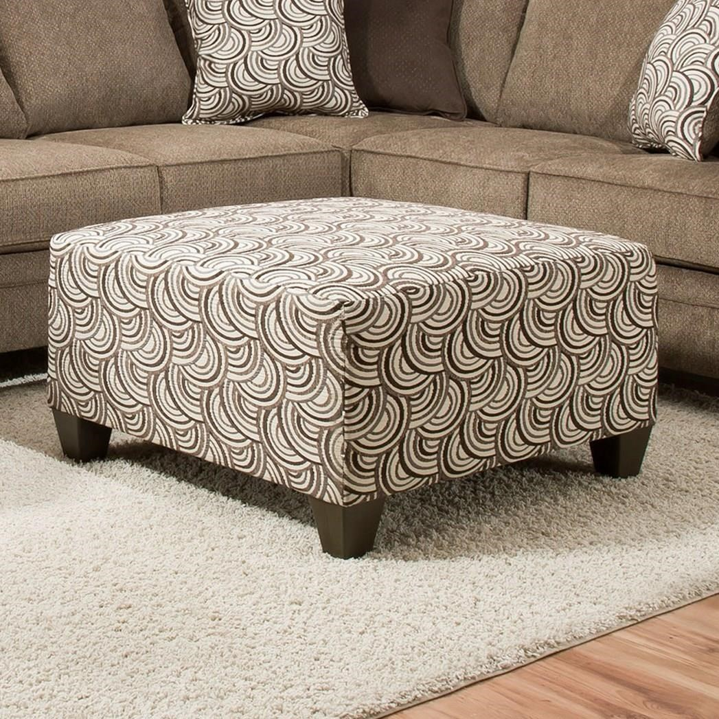 United Furniture Industries 6485 Cocktail Ottoman - Item Number: 6485StorageOttoman-BastaPumice