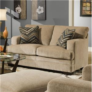 United Furniture Industries 6491 Transitional Stationary Loveseat