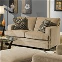 United Furniture Industries 6491 Transitional Stationary Loveseat - Item Number: 6491 Loveseat Barley