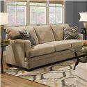 Simmons Upholstery 6491 Transitional Stationary Sofa - Item Number: 6491 Sofa Barley