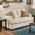 United Furniture Industries 6491 Transitional Stationary Loveseat - Item Number: 6491Loveseat-SassyCream