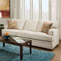 United Furniture Industries 6491 Transitional Stationary Sofa - Item Number: 6491Sofa-SassyCream