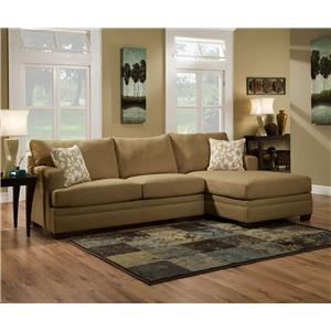 Simmons Upholstery 6491 Caprice Sofa Chaise