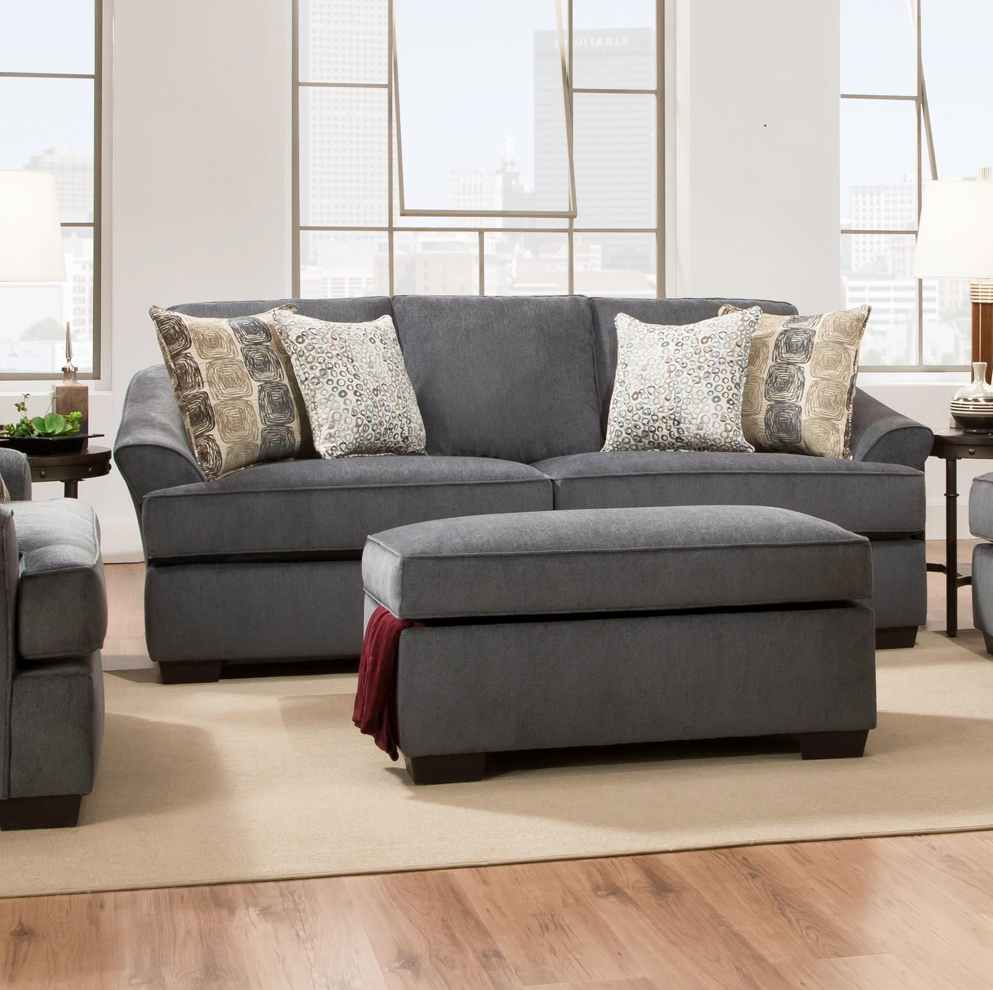 Simmons Upholstery 6522 Casual Sofa - Item Number: 6522S
