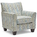 United Furniture Industries 6547BR Accent Chair - Item Number: 2158AccentChair-Soma Turquoise