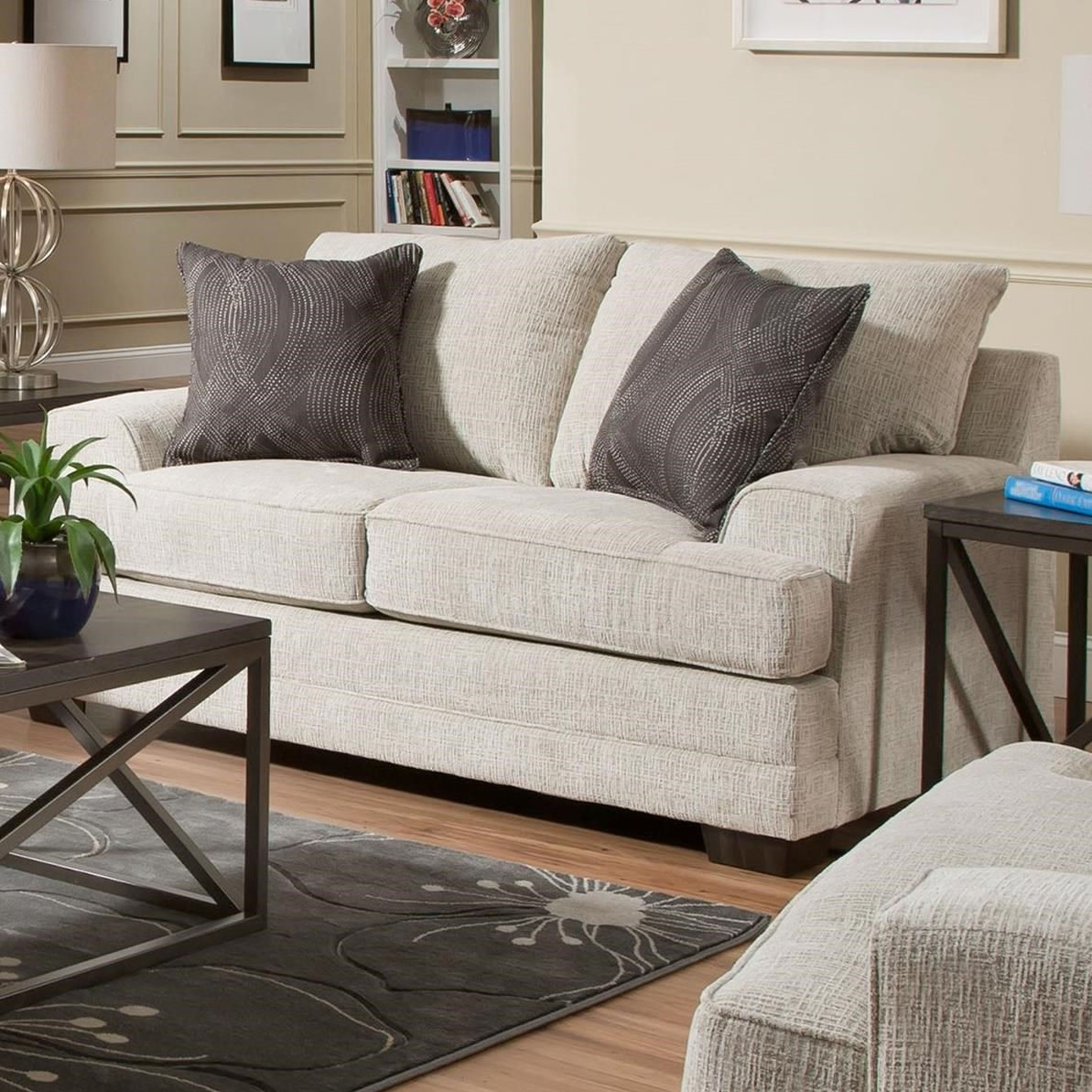 6548BR Love Seat by Simmons Upholstery at Dunk & Bright Furniture