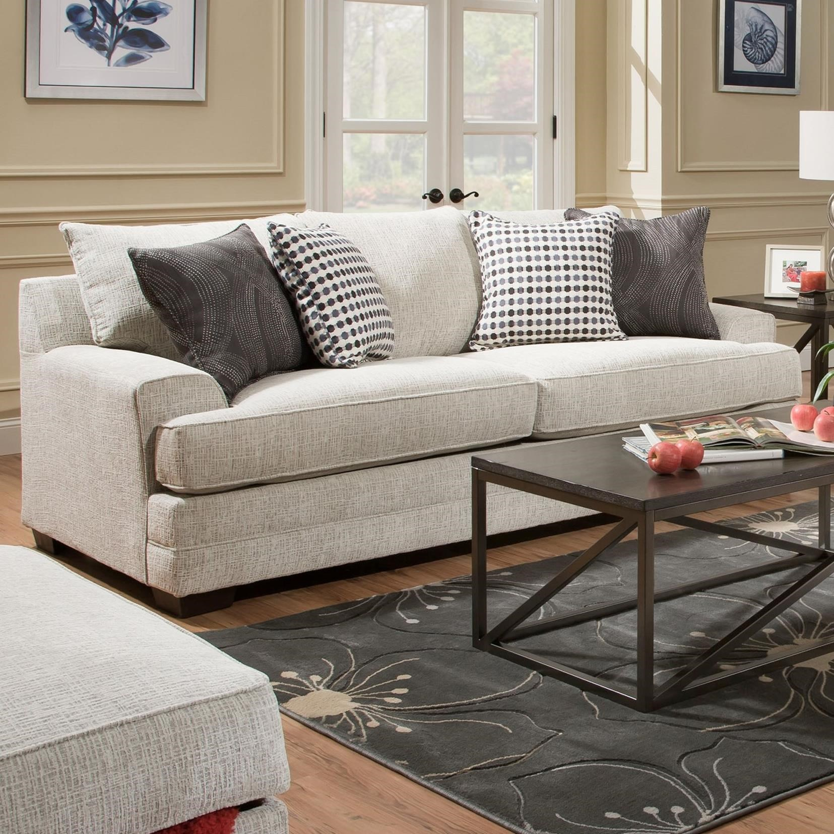 6548BR Sofa by Simmons Upholstery at Dunk & Bright Furniture
