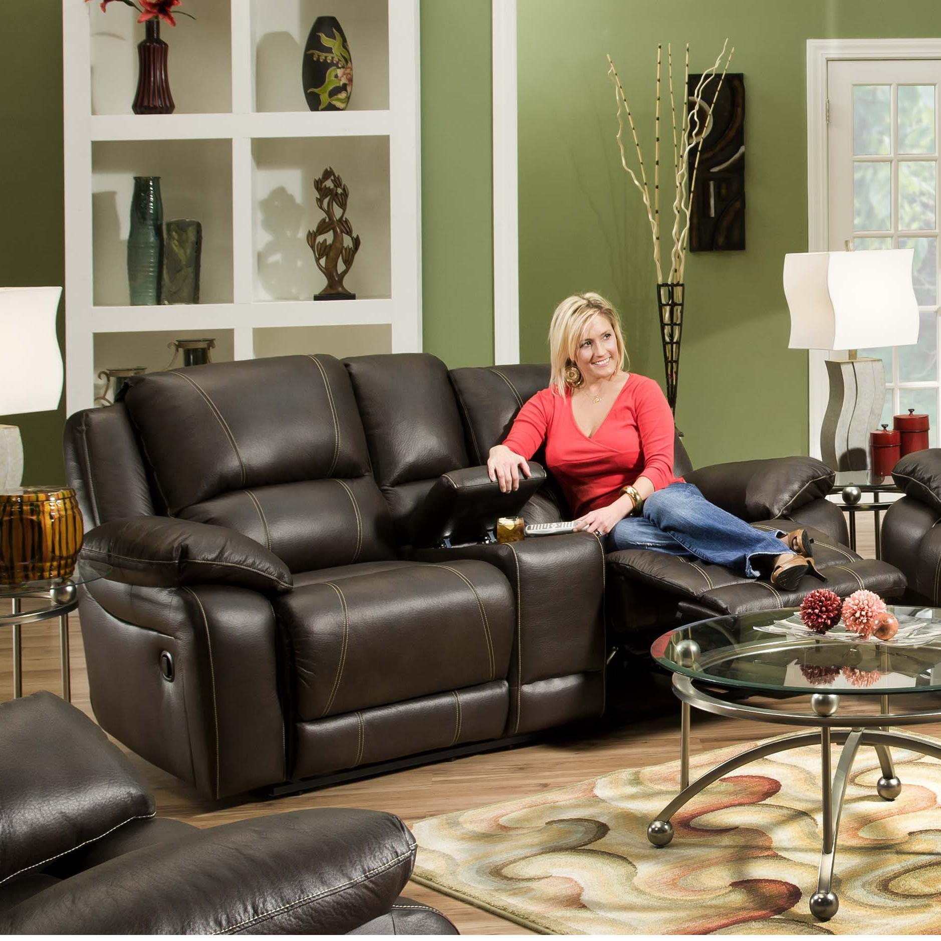 660 Casual Double Motion Console Loveseat by United Furniture Industries at Dream Home Interiors