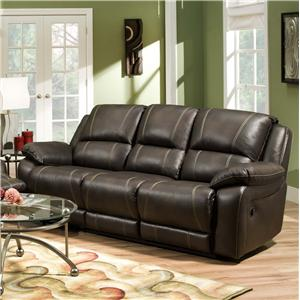 United Furniture Industries 660 Casual Power Double Motion Sofa