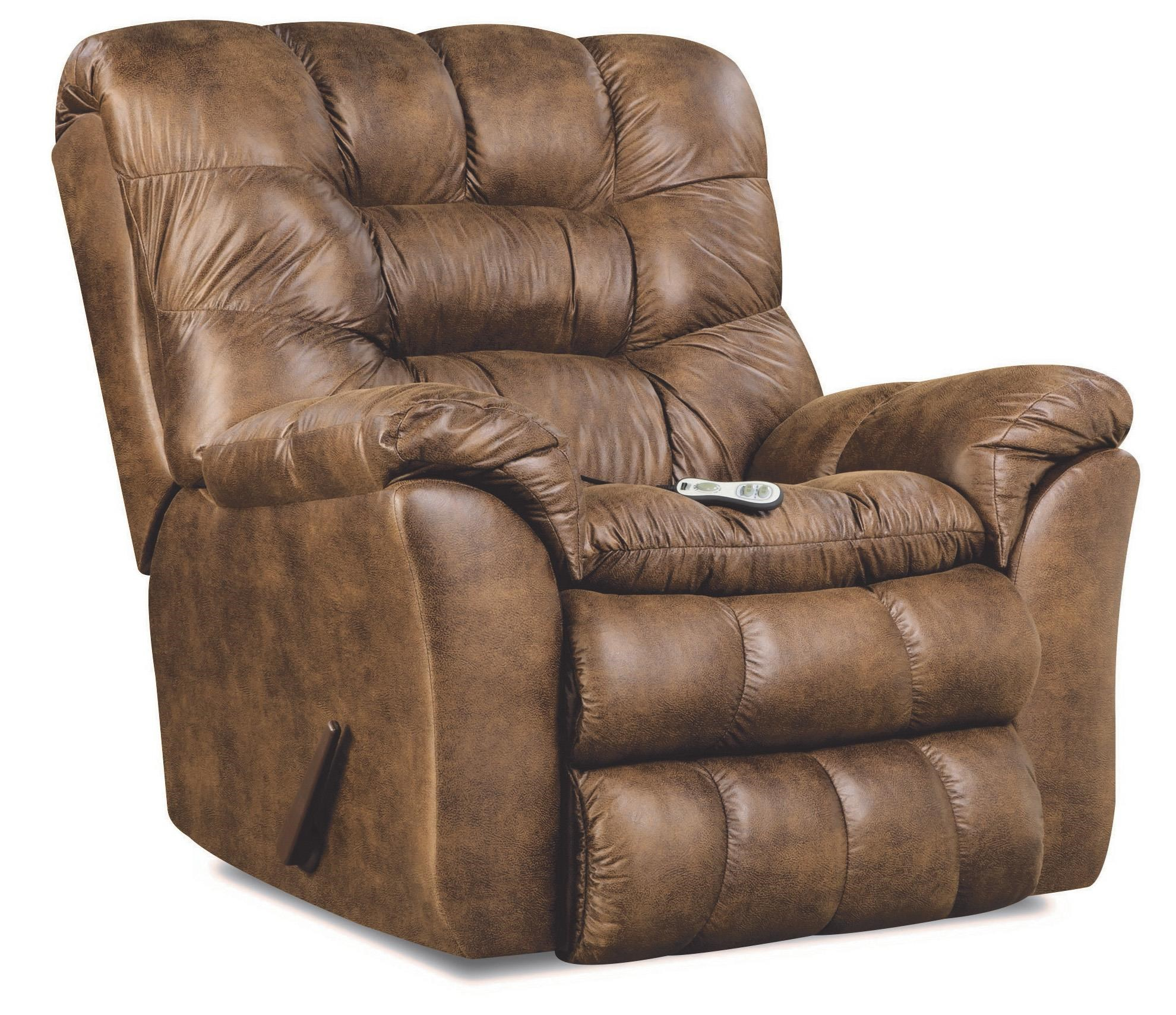 Simmons Upholstery 678 Heat and Massage Rocker Recliner - Item Number: 678M