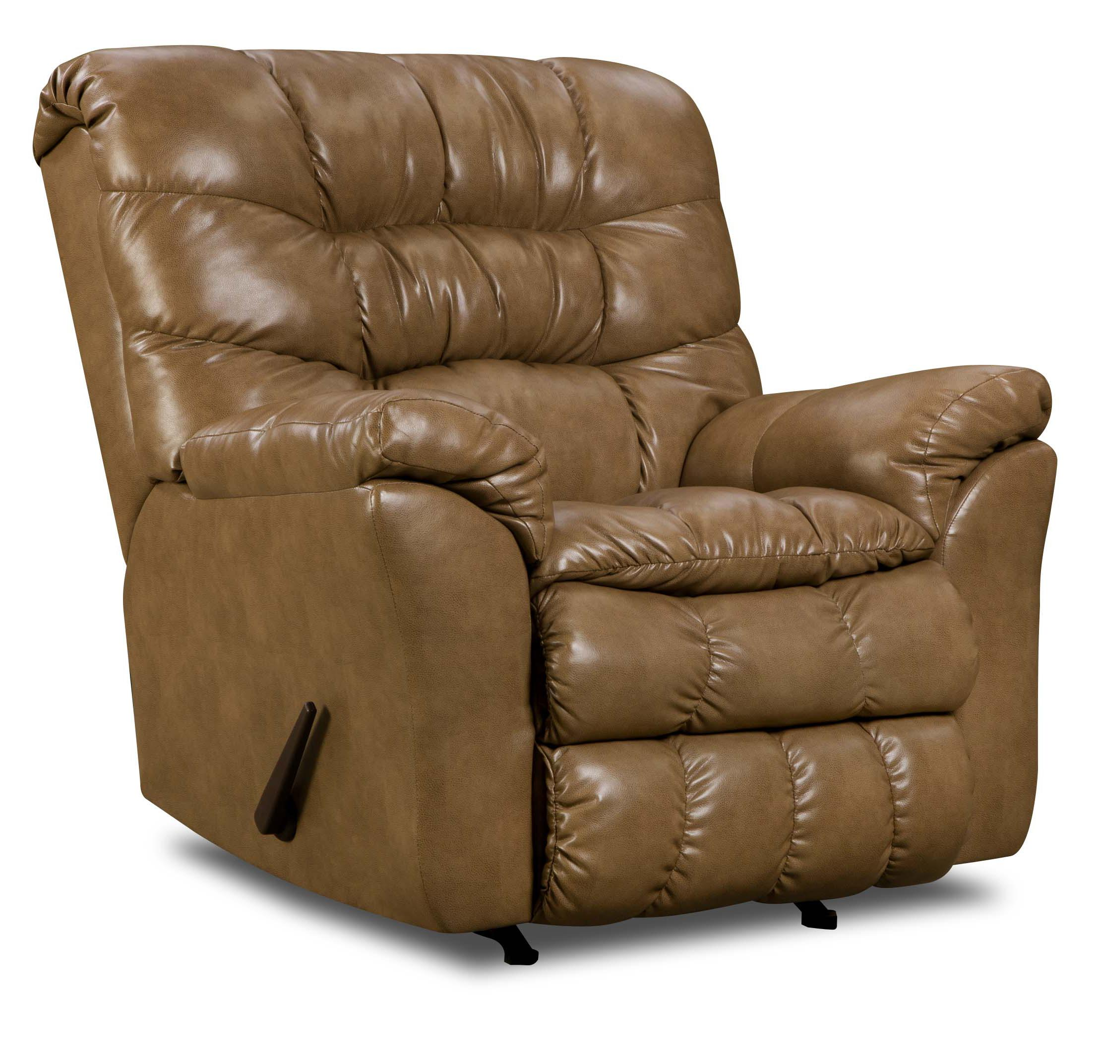 United Furniture Industries 689 Casual Power Rocker Recliner - Item Number: 689-P Rocker Toast