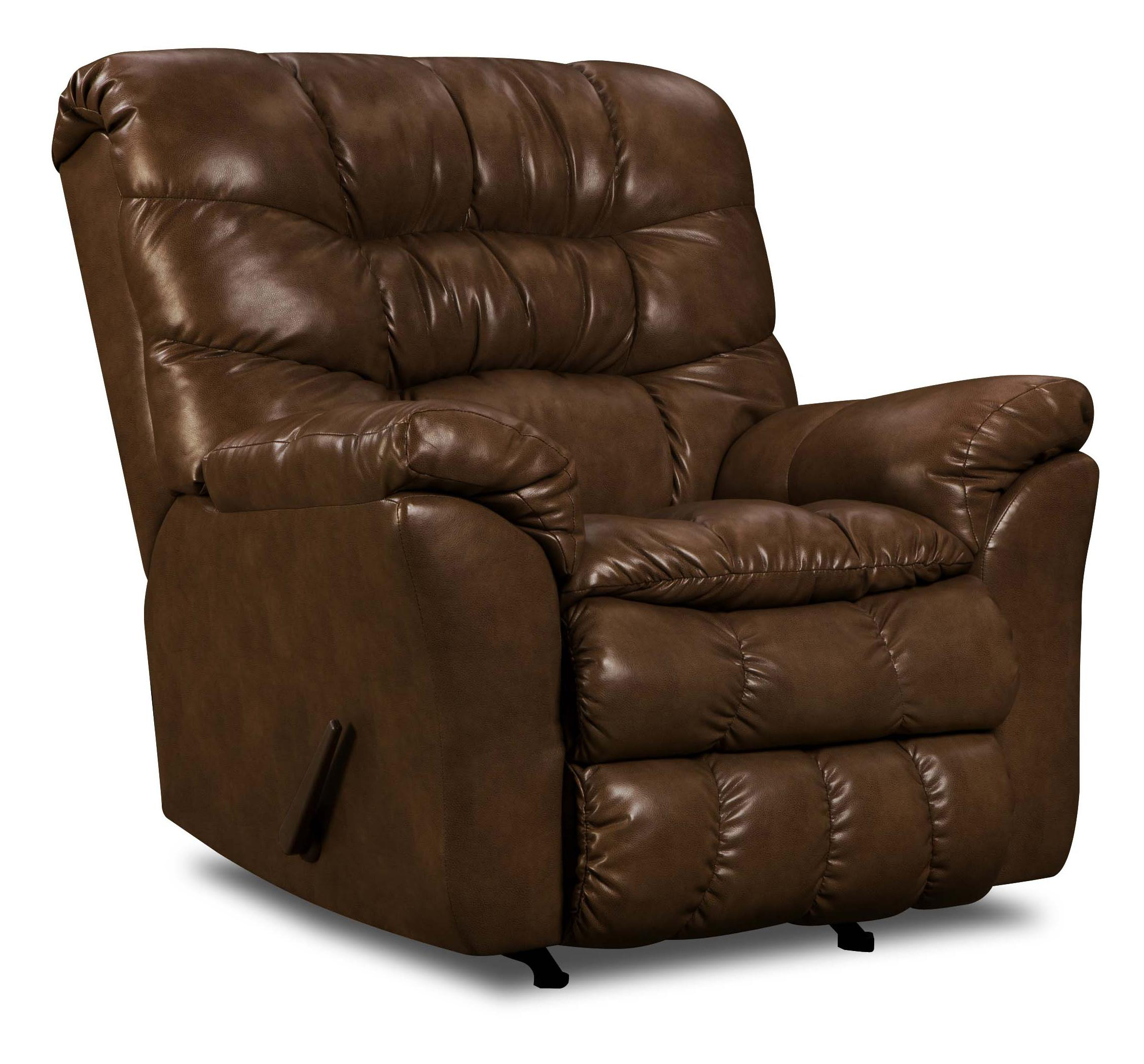 United Furniture Industries 689 Casual Power Rocker Recliner - Item Number: 689-P Rocker Tobacco