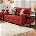 United Furniture Industries 6950 Contemporary Loveseat - Item Number: 6950-Loveseat-Cayenne