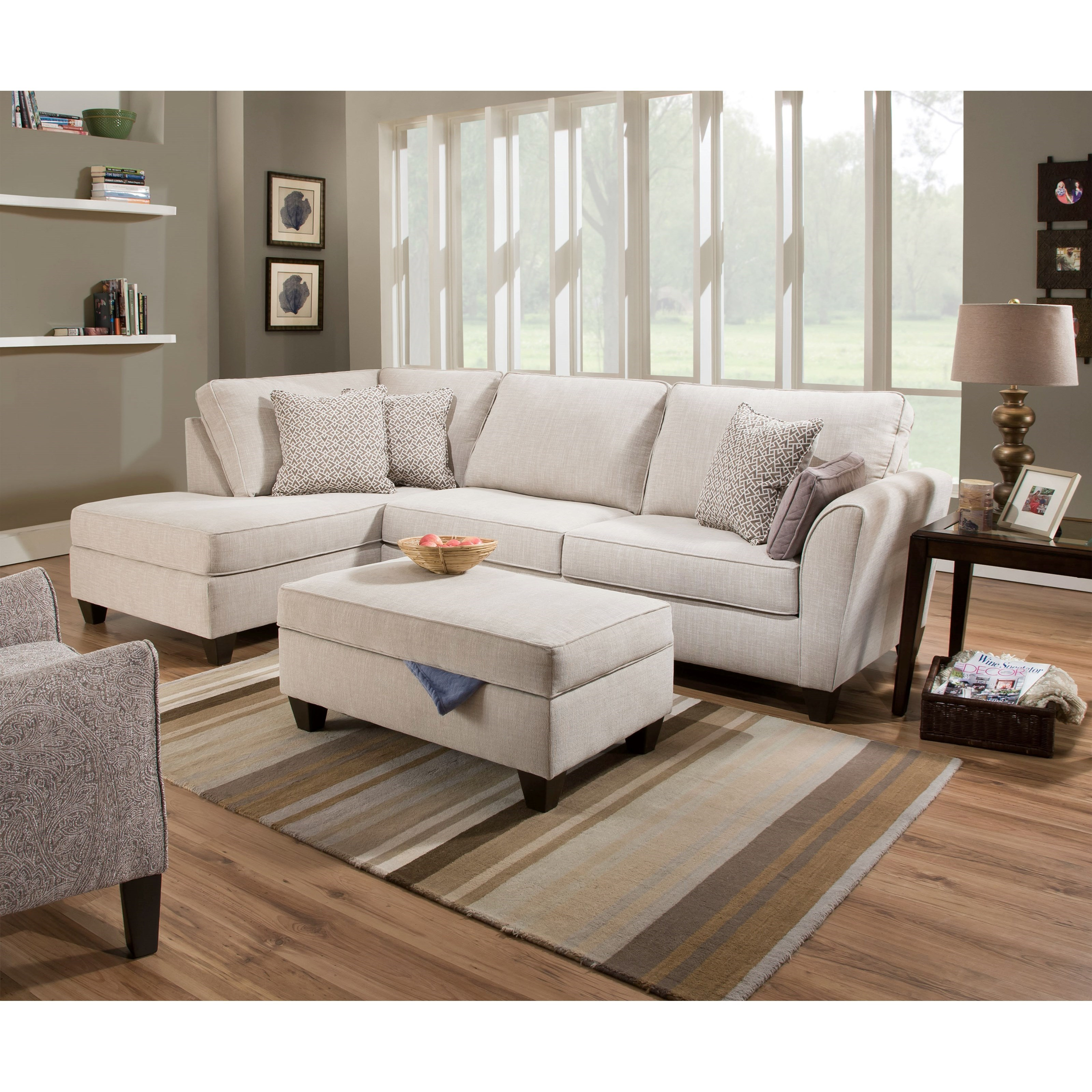 7081 2-Piece Sectional by Lane at Esprit Decor Home Furnishings