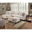 United Furniture Industries 7081 2-Piece Sectional - Item Number: 7081-083+03R-Bennington Stone