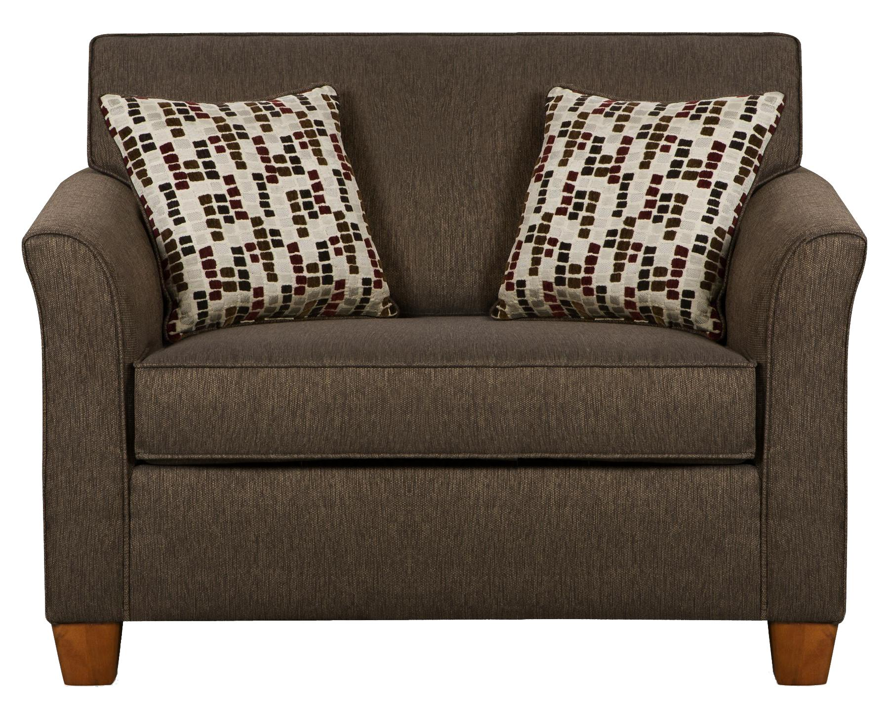 Simmons Upholstery 7251 7251 Twin Size Sofa Sleeper In