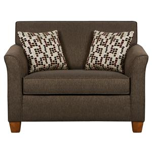 Simmons Upholstery 7251 Twin Size Sofa Sleeper In Casual Furniture Style Dunk Bright