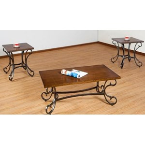 Simmons Upholstery 7311 Occasional Table Group - 7311 Occ Group