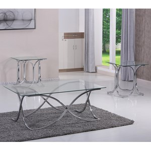 United Furniture Industries 7316 3 Piece Occasional Table Set