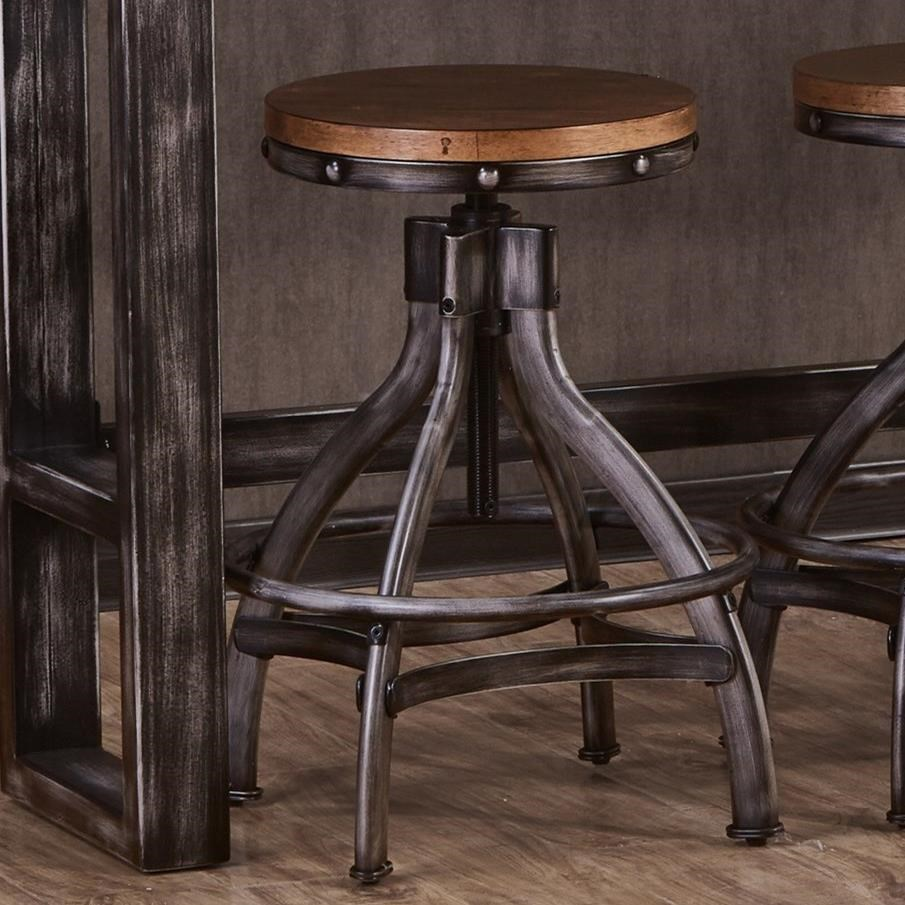 Chandler Adjustable Bar Stool by United Furniture Industries at Dream Home Interiors