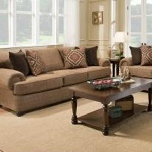 United Furniture Industries 7355BR Transitional Sofa