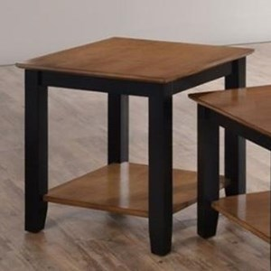 Simmons Upholstery 7503 End Table with Shelf