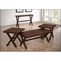 United Furniture Industries 7505 Casual Console Table - Shown with matching coffee table and end tables.