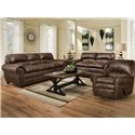 Simmons Upholstery 7510  Sofa, Loveseat and Recliner - Item Number: 7510 Group