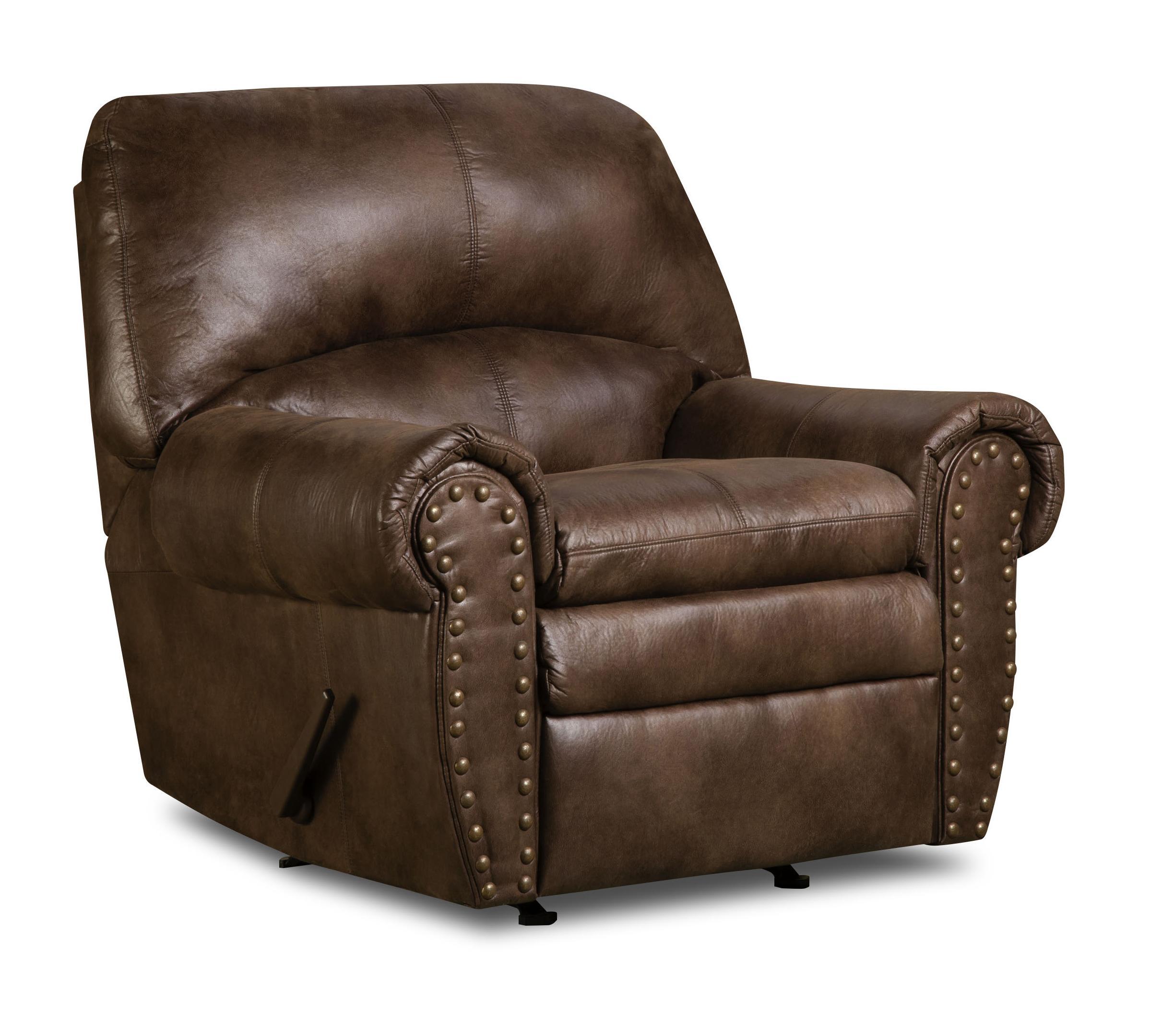 Simmons Upholstery 7510 Rocker Recliner - Item Number: 7510-Rocker-Espresso
