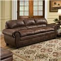 Simmons Upholstery 7510 Casual Sofa - Item Number: 7510-Sofa-Espresso