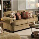 United Furniture Industries 7530 Loveseat - Item Number: 7530 Loveseat Topaz