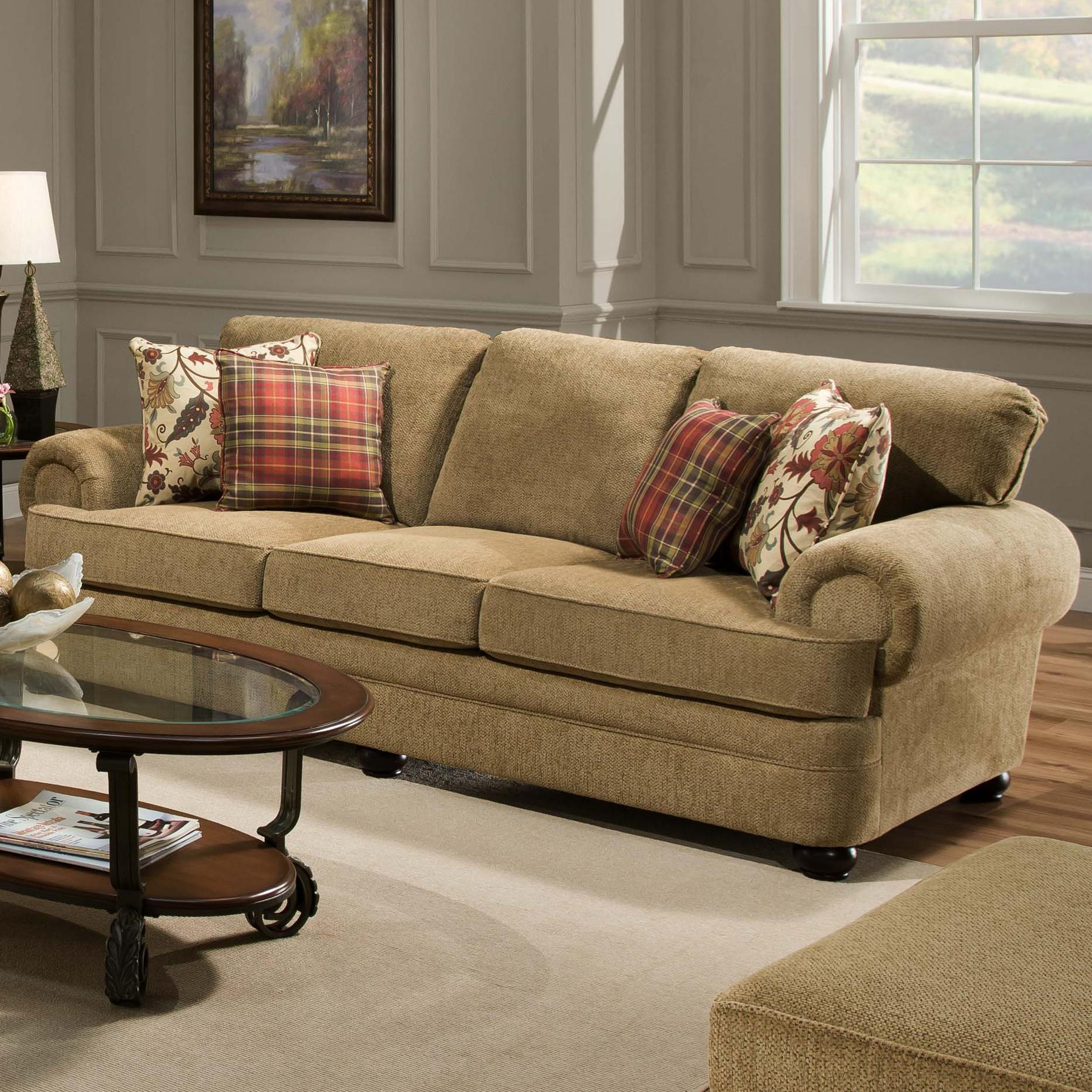 7530 traditional three seat sofa with rolled arms by simmons upholstery