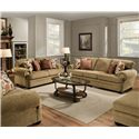 United Furniture Industries 7530 Stationary Living Room Group - Item Number: 7530 Topaz Living Room Group 1