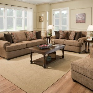 Simmons Upholstery 7533 BR Living Room Group