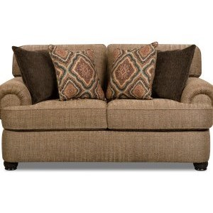 Simmons Upholstery 7533 BR Transitional Loveseat - Item Number: 7533BRLoveseat-ShelbyMulti